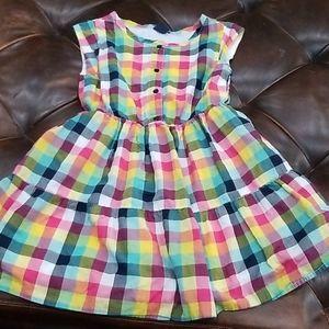 Gap girls dress small plaid size 6- 7